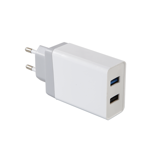 QC3.0 Quick charger 30W Dual USB EU