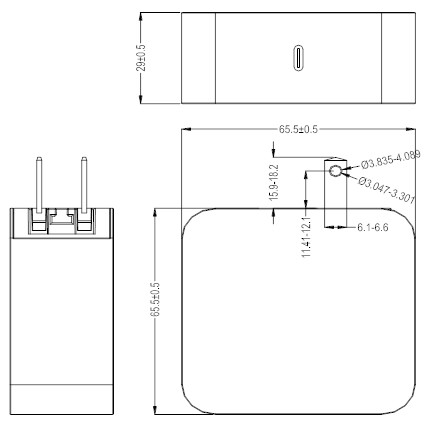 60W PD charger drawing